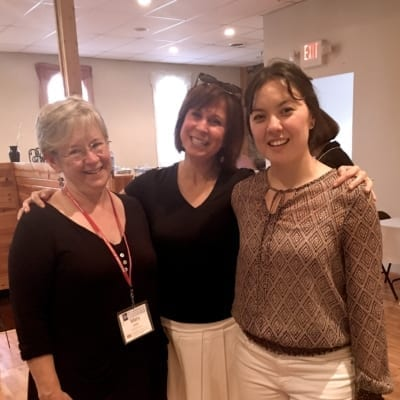 Mary McDonald Klimek, Kim Steinhauer, and Kim McInnis in June 2017